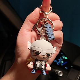 Móc khóa silicone nhân vật Avenger kèm huy hiệu