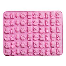 Khuôn Silicon làm kẹo dẻo vĩ 60 hình gấu con, hà mã, sư tử, dấu chân gấu