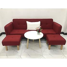 Bộ ghế sofa giường sofa bed tay vịn phòng khách sopha sivali04 salon
