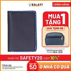 Ví Nhỏ handmade da thật Galaxy Store GVM02 (Xanh Navy)