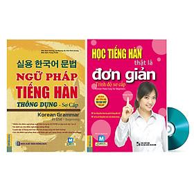 Combo Ngữ Pháp Tiếng Hàn Thông Dụng Và Tiếng Hàn Thật Là Đơn Giản Trình Độ Sơ Cấp Tặng DVD Kho Tài Liệu Vô Giá Giúp Học Tiếng Hàn Từ Con Số 0