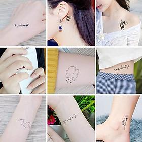 Bộ 60 Tờ Hình Xăm Dán Thời Trang, Hình Xăm Tattoo Cao Cấp Siêu Đẹp Như Hình Xăm Thật, Rất Nhiều Mẫu Hình Lựa Chọn, Chất Liệu An Toàn, Không Gây Hại Cho Da, Sử Dụng Đơn Giản Có Thể Xóa Dễ Dàng