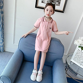Váy bé gái 5 tuổi (3-12 tuổi) ️ váy polo bé gái