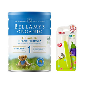Sữa bột Bellamys Organic số 1 900g tặng thìa ăn dặm silicon Farlin