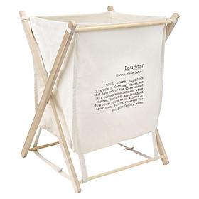 Giỏ Đựng Đồ Giặt JYSK Karlsson Vải Tổng Hợp / Khung Gỗ (45 x 47 x 58 cm)