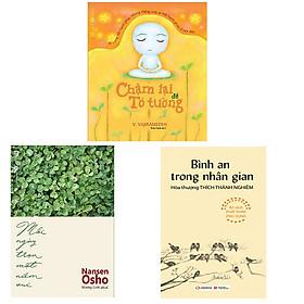 Bộ 3 cuốn sách sống chậm để bình yên: Chậm Lại Để Tỏ Tường - Mỗi Ngày Trọn Một Niềm Vui - Bình An Trong Nhân Gian