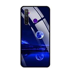 Ốp lưng kính cường lực cho điện thoại Realme 5 Pro - 0269 MOON02 - Hàng Chính Hãng
