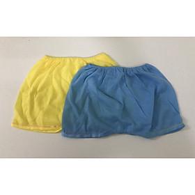 Quần đùi cotton màu nhạt cho bé trai, bé gái chất vải mềm, mịn, thoáng mát 3-7kg Giao màu ngẫu nhiên
