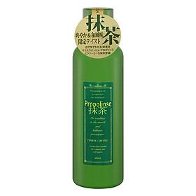 Nước súc miệng Propolinse Nhật Bản chiết xuất trà xanh chứa 100% thành phần thiên nhiên sát khuẩn 99% ngăn ngừa mảng bám chống sâu răng hôi miệng hơi thở thơm tươi mát - Xanh (600ml/chai)