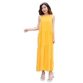 Đầm Maxi Nữ Vải Lụa Trơn 4 Màu, Thích hợp đi làm, du lịch, dã ngoại, sinh hoạt ngoài trời - 3393