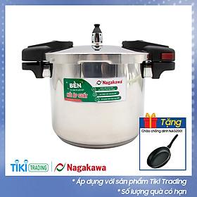 Nồi Áp Suất Cơ Inox Cao Cấp Đáy Từ Nagakawa NAG1452 (5L) - Dùng Trên Mọi Loại Bếp - Hàng Chính Hãng