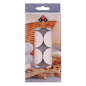 Hộp 8 Nến Tealight Thơm Cao Cấp Hương Fresh Linen Nycandle FtraMart Candle EDC-NYC08 (Trắng)