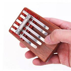 5-Key Kalimba Rosewood Mbira Children Mini Guitar Thumb Piano Traditional Musical Instrument Perfect Gift for Kids