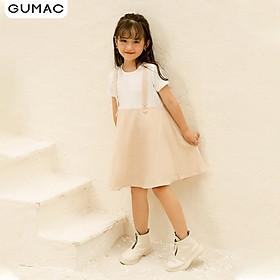 Đầm váy bé gái DKA1092 GUMAC thiết kế  yếm caro xòe