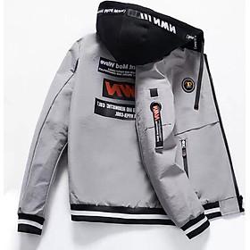 Áo khoác nam JJ02 XAM , khoác dù nam 2 lớp phối nón không tháo rời thời trang hàn quốc trẻ trung cuốn hút Julido mẫu TT01 chất liệu thấm hút mồ hôi dày dặn mặc thoáng mát