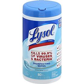 Giấy lau linen kháng khuẩn Lysol Disinfecting Wipes - Hàng nhập khẩu