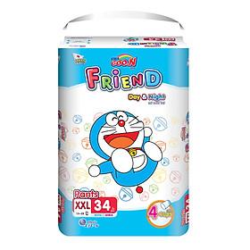 Combo 2 gói Tã quần Goo.n Friend XXL34 thiết kế mới - tặng đồ chơi Toys house-1