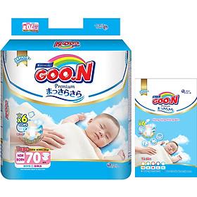Tã Dán Goo.n Premium Gói Cực Đại NB70/S64/M60/L50/XL46 - Tặng thêm 5 miếng cùng size