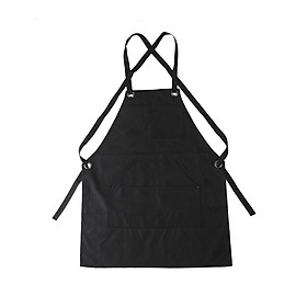 Portable Adjustable Canvas Work Apron With Pockets For Tools Storage