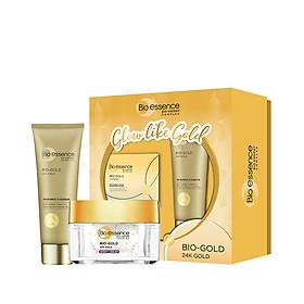 Hộp quà Bio-essence Gold [Kem dưỡng đêm 40g và Sữa rửa mặt 100g]