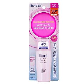 Sữa Chống Nắng Biore UV Bright Face Milk Sáng Hồng Tự Nhiên Tuýp 30ML