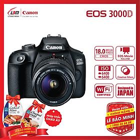 Máy ảnh DSLR Canon EOS 3000D + 18-55mm F3.5-5.6 III - Hàng Chính Hãng Lê Bảo MInh + KM 1 hộp thịt Nhập Khẩu Chopped Ham 325gram - Tặng kèm 1 hộp thịt Chopped Ham
