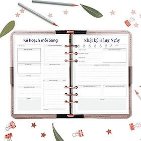 Giấy / Ruột refill sổ còng 6 lỗ A5 lập kế hoạch 60 tờ, định lượng 100gsm của Self Planner