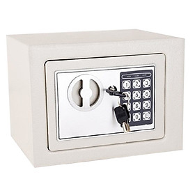 Két sắt mini khóa điện tử trắng