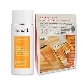 SET Chống nắng khoáng chất Murad City Skin Age Defense Broad Spectrum SPF 50 PA++++ và Bộ sản phẩm tan nám 7 ngày Murad Start Bright Here