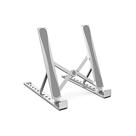 Laptop Stand 10-level Adjustable Laptop Stand Portable Aluminum Alloy Laptop Holder Foldable Non-slip Notebook Stand