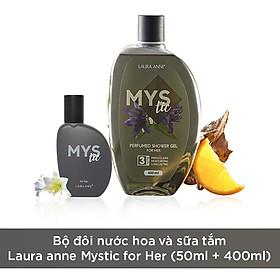Bộ đôi nước hoa và sữa tắm Laura anne Mystic for Her