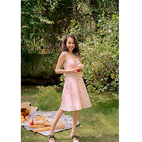 Đầm nude nhún bèo - Creme Brulee Dress