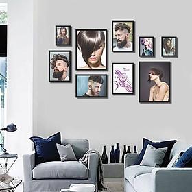Hình đại diện sản phẩm Bộ 9 khung tranh treo tường quán salon tóc MS094
