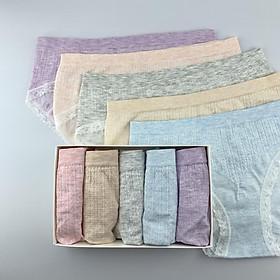 Hộp 5 quần lót nữ maitoshi-9901 Chất Liệu 95%cotton 5%spandex Chống xù mềm mại