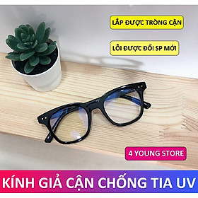 Kính gọng cận thời trang mắt vuông phong cách Hàn Quốc - Kính giả cận hottrend 4 Young Store 047