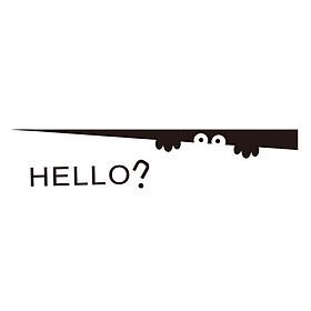 Miếng Dán Dễ Thương Trang Trí Hello