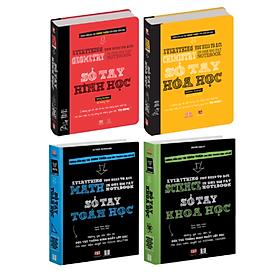 Sổ tay học tập - Sổ tay toán học, sổ tay hình học, sổ tay hóa học, sổ tay khoa học ( Tiếng việt, 4 cuốn )