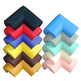 Set 10 Tấm Bịt Góc Bàn Bằng Mút Xốp Cao Cấp Giúp Bảo Vệ Bé An Toàn (Có Sẵn Keo Dán 2 Mặt 3M) - Giao Màu Ngẫu Nhiên - Hàng Nhập Khẩu