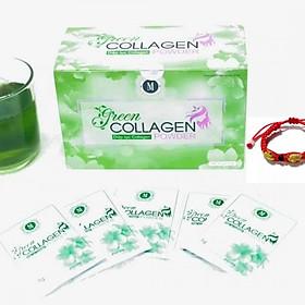 Thực Phẩm Bảo Vệ Sức Khỏe Diệp lục Collagen (Green Collagen Powder) M + Tặng kèm Vòng Phong Thủy