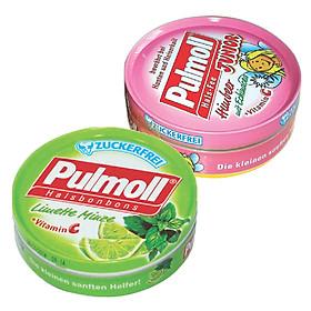 Hình đại diện sản phẩm Combo 2 Hộp Kẹo Pulmoll Himbeer (50g) + Limette Vị Chanh Muối (50g)