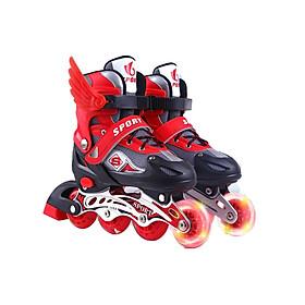 Giày patin trẻ em siêu hot cho bé màu đỏ có cánh