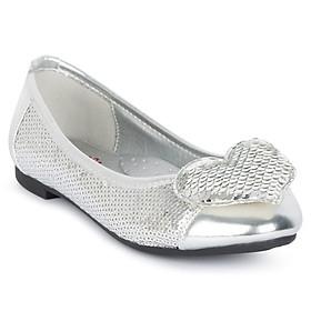 Giày búp bê bé gái Crown Space Crown UK Princess Ballerina CRUK3102 - Màu Bạc