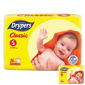 Tã Dán Drypers Classic Gói Trung S26 (26 Miếng) + Tặng 1 Gói Cùng Loại-0