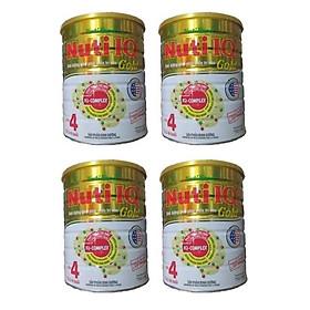 Bộ 4 Lon Sữa Bột Nutifood Nuti IQ Gold Step 4 (Từ 2 - 6 tuổi) - 1.5kg