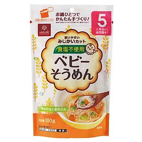 Mỳ Somen Hakubaku Tách Muối 5+ Month 100G - Nội Địa Nhật Bản