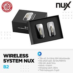 Bộ thu phát tín hiệu không dây cao cấp 2.4GHz Wireless System Nux B-2 - Hàng chính hãng