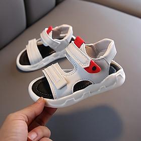 Sandal bé trai 2 - 4 tuổi màu trắng quai ngang khỏe khoắn và năng động ST34