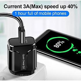 Củ Sạc Nhanh Quick Charge QC 3.0 (1 Đầu USB) Dùng Cho Thiết Bị Iphone/ Samsung/ Android US05- Hàng Chính Hãng