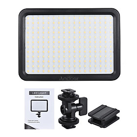 Đèn LED Trợ Sáng Chụp Ảnh Có Chỉnh Sáng Andoer Led204 (204 Đèn) (3300/5600K) (30W) (Cri90)