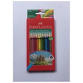 Faber-Castell-116252-Chì Màu Grip - 12 Màu Dài